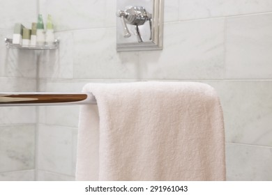 Hotel Bathroom with daily using stuff