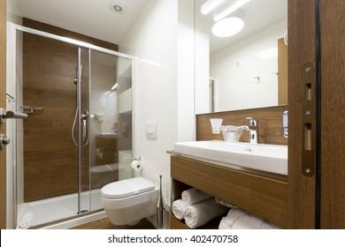 Hotel bathroom interior