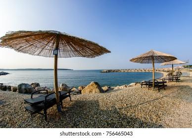 hotel beach in Novigrad Cittanova Istria