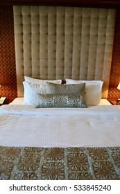 Hotel bedroom bed