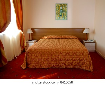 Hotel bedroom detail