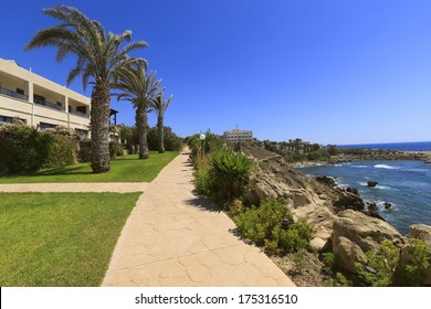 Hotel by the sea near Coral bay, Paphos, Cyprus