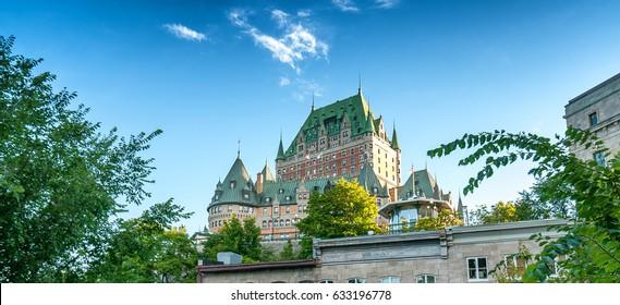 Hotel de Frontenac. Beautiful view of Quebec City Castle.