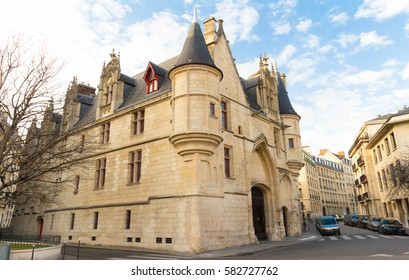 The Hotel de Sens, Paris, France , is in between late Gothic and early Renaissance style, and now houses the Forney art library.It was built between 1475 and 1507.