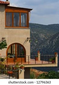 A hotel in Delphi, Greece