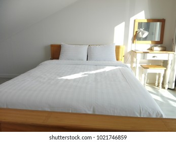 White Pillow On Bed Decoration Bedroom Stock Photo (Edit Now ... de90d9086