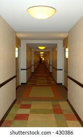 Hotel hallway perspective vertical