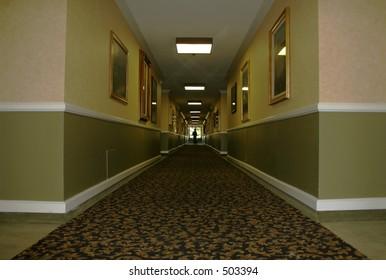Hotel Hallway wide