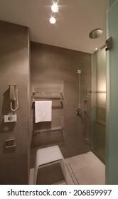Hotel interior bathroom