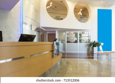 Hotel interior, reception area