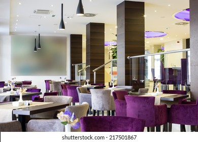 Hotel lobby and cafe interior