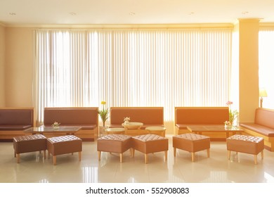 hotel lobby and furniture with color tone effect