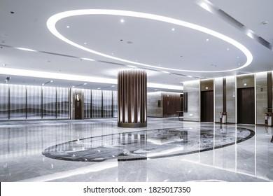 Interieur der Hotellobby. modernes Design.