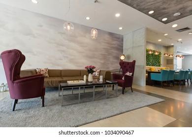 Hotel lounge cafe