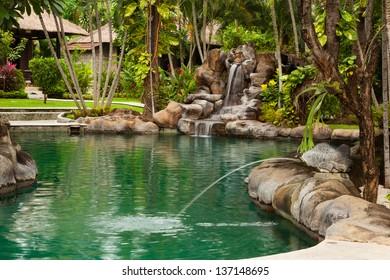 Hotel on Amed beach. Bali island. Indonesia