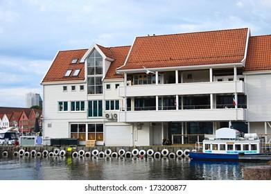 Hotel on pier in Bergen