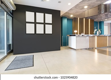 Hotel reception desk, reception area