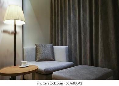 Hotel room or bedroom Interior. hotel concept.