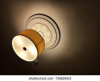 Hotel room ceiling light