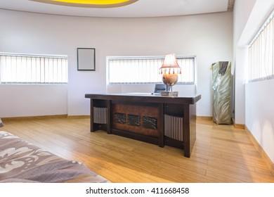 Hotel room interior - working corner