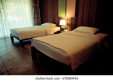 hotel room with Twin bed