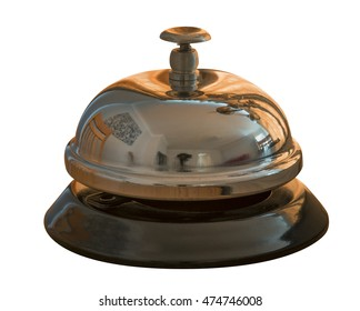 Hotel service bell isolated on a white background
