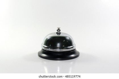 Hotel service bell isolated on white