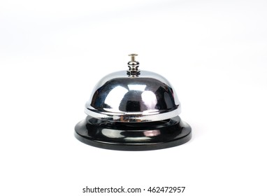 Hotel service bell on white background. Concept for service