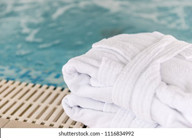 Hotel, spa, swimming pool, bathrobe, towels