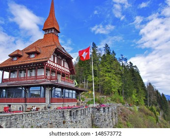 Hotel at the top of Harder Kulm, Interlaken, Switzerland