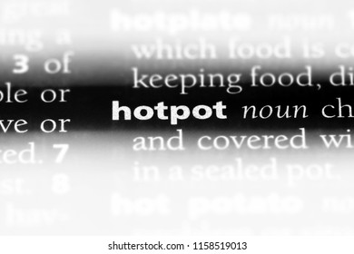 hotpot word in a dictionary. hotpot concept.