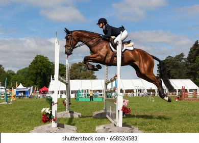 HOUGHTON, NORFOLK/ENGLAND - May 28th 2017: Houghton International Horse Trials 2017 Including cross country, eventing, show jumping and dressage at the top level
