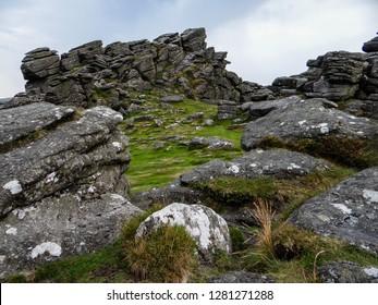 Hound Tor on Dartmoor National Park, Devon