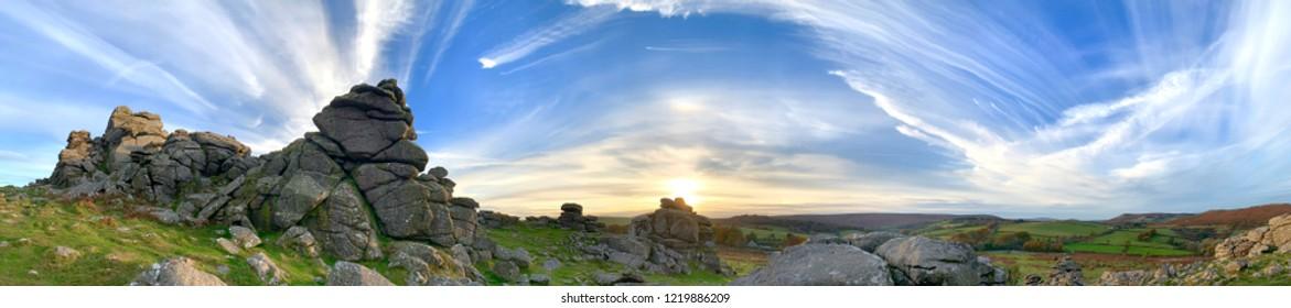 Hound Tor Panorama