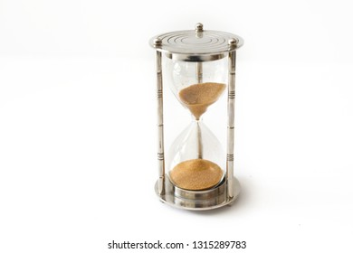 An hourglass is a device used to measure the passage of time.