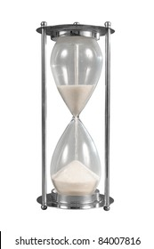Hourglass isolated over a white background with a clipping path