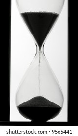 hourglass on white