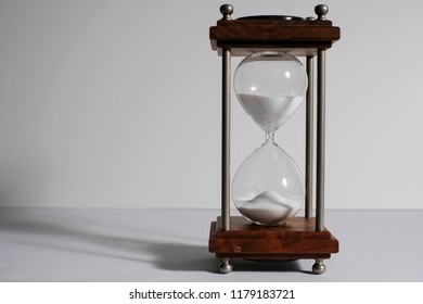 Hourglass, or sand clock is an old style time measurement, a symbol of the importance of meeting deadline, punctuality, urgency,