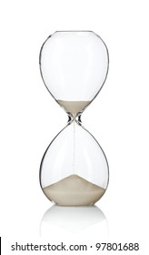 Hourglass, sand glass isolated on white background