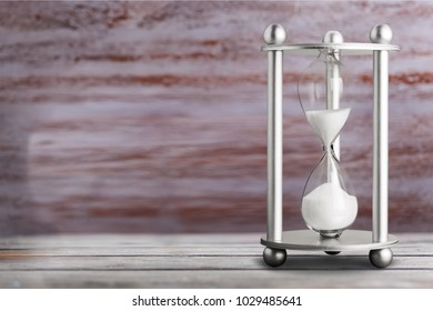 Hourglass as time passing