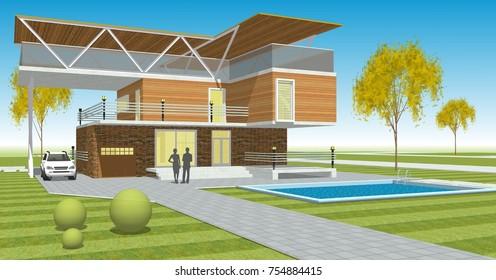 house, 3d illustration