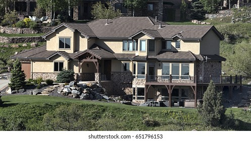A house in affluent neighborhood in Red Rock community Colorado.