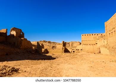 House in Al Qasr, old village in Dakhla Desert, Egypt