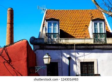 House at Alfama, Lisbon towncenter.