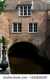 house along canal in  Den Bosch, 's Hertogenbosch, The Netherlands