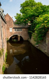 house along canal in 's Hertogenbosch, The Netherlands
