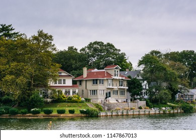 House along Deal Lake in Asbury Park, New Jersey.