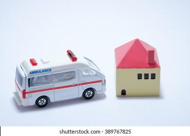 House and ambulance
