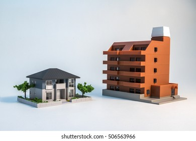 house and apartment building model