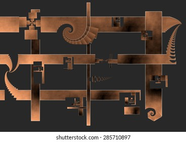 The house of the architect, a solid structure enough to support his ego, lines and parallel spaces, with some spiral of exit to the outside, seems a kind of jail or fortress in which to remain safe,